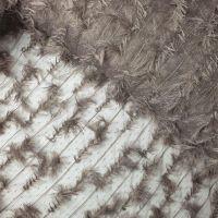 Кружевная ткань расшитая перышками Тауп