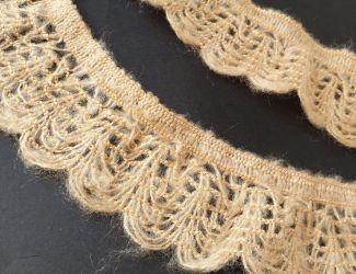 Вязаное кружево 4см Беж