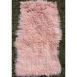 Мех Ламы натуральный.Розовый
