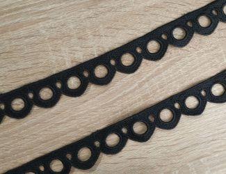 Кружево натуральное 3 см, чёрный