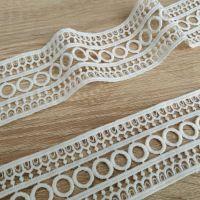 Кружево натуральное 5 см, белый