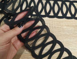 Кружево натуральное 8,5 см, чёрный