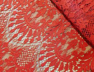 """Кружевная ткань """"Марселла"""" Красный"""