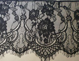 Кружево Французское ширина 25см. Черный (19-170)