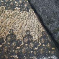 "Ткань кружевная вышивка на сетке ""Beau"" 1635_01 Черный"
