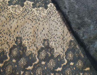 """Ткань кружевная вышивка на сетке """"Beau"""" (1635)"""