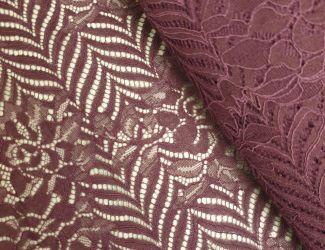 """Кружевная ткань """"Melody"""" с кордовой нитью. Марсал"""
