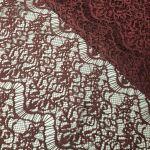 """Кружевная ткань плотная """"Каскад"""" (15192) Марсала"""