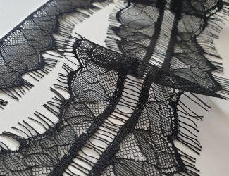 Кружево французское ширина 6см (43526) Черный