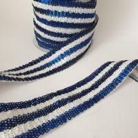 Тесьма с пайеткой 4см Синий