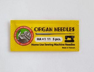 Иглы ORGAN NEEDLES бытовые HAх1 11 (в пачке 5шт)