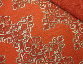 """Кружевная ткань """"Libеrty"""" c кордовой нитью (3178) Красный"""