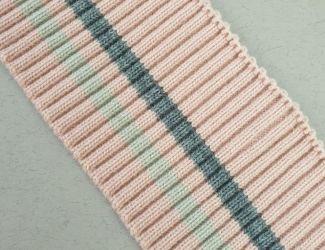 Манжет (довяз) трикотажный 75*7.5см (3202) Розовый