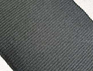 Манжет (довяз) трикотажный 75*10 (3205)  Черный/Серебро