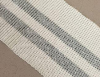 Манжет (довяз) трикотажный 80*9см (арт.3210) Белый\Серебро
