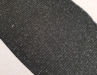 Манжет (довяз) трикотажный 80*11 (3213) Черный-Серебро