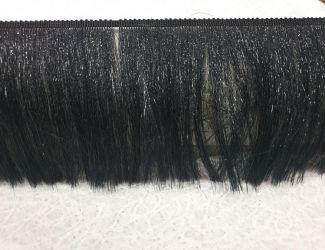 Бахрома с люрексовой нитью 15см Черный