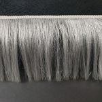 Бахрома с люрексовой нитью 15см Белый
