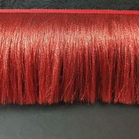 Бахрома с люрексовой нитью 15см Красный