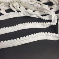 Тесьма с помпонами 0.5см Белый
