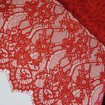 """Кружевная ткань """"Stella"""" c кордовой нитью, 70190, красный"""