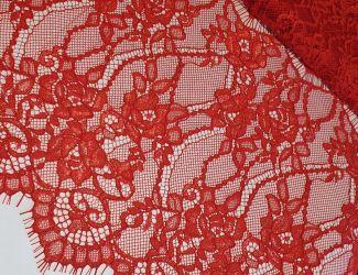"""Кружевная ткань """"Stella"""" c кордовой нитью (70190G) Красный"""