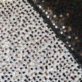 Сетка с мелкой пайеткой (02-Piccolo) Черный