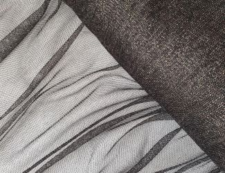 Сетка стрейч люрекс (101) Черный-Серебро