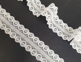 Кружево французское ширина 2.5см  (129-2) Белый