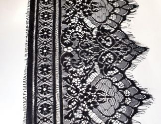 Кружево Французское ширина 24см (8906) Черный