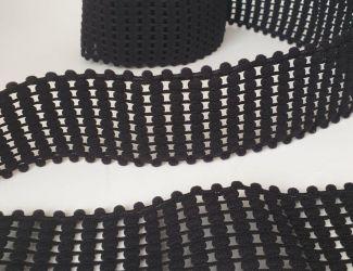"""Резинка декоративная """"Balls"""" 4,5 см,  1190, чёрный"""